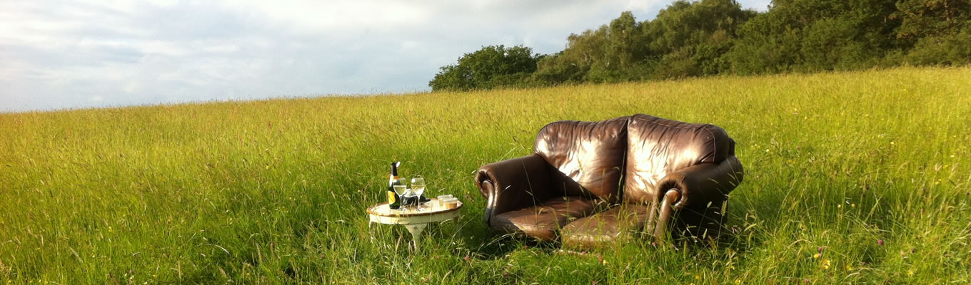 Relax in nature, put your feet up in a field and enjoy a refreshing drink