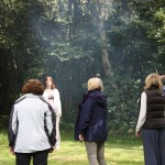 Mindfulness in the fresh air beneath the trees